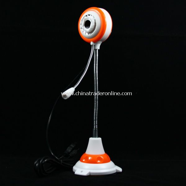 New 1.3 MP USB 2.0 PC Camera Webcam with Mic Orange