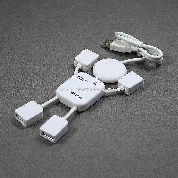 New 4 Port USB 2.0 480Mbps High Speed Cable Hub for PC
