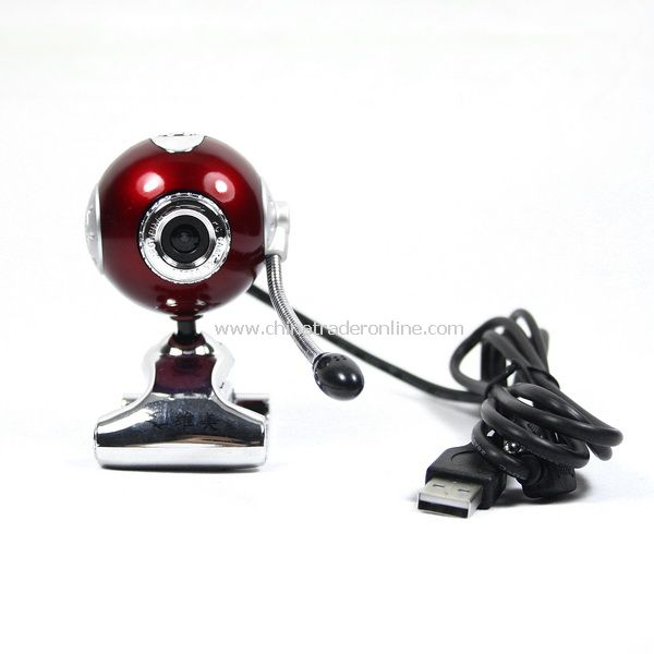 New 5.0 MP USB 2.0 PC Camera Webcam with Mic Dark Red