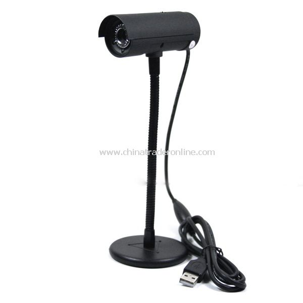 New 5.0 MP USB 2.0 Webcam PC Camera 5 LED Black