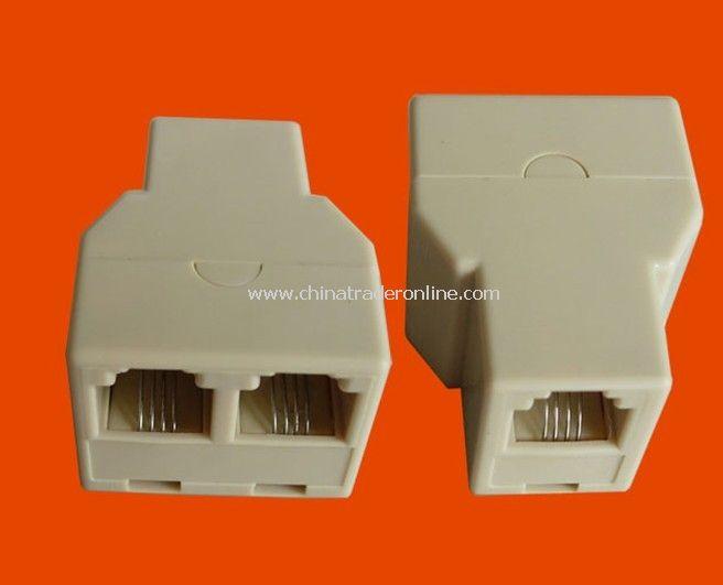New RJ11 RJ-11 Connector Splitter Extender Plug Adapter