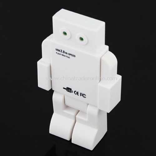 LED EYES ROBOT HUB(white)