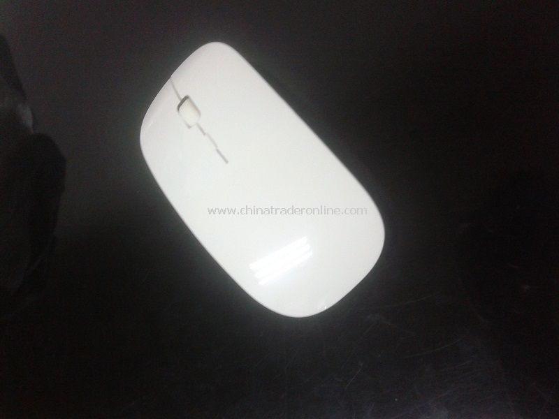 New 10M 2.4G Wireless Ultra-Thin Optical Mouse White for Laptop PC
