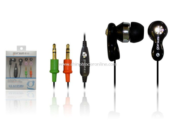Ear buds with microphone, hands-free ear buds