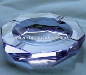 Round Crystal Ashtray Set