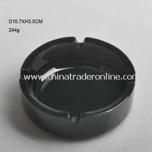 Black Color 4 Holes Glass Smoking Ashtray