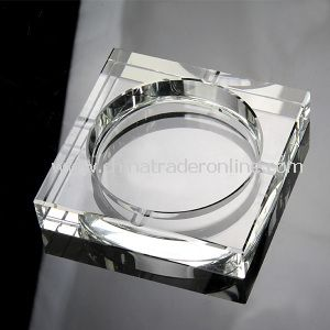 Square Glass Ashtray for Decoration