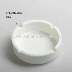 White Color 4 Holes Glass Smoking Ashtray