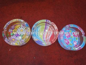 Crystal Color Glass Ashtrays, Cigar Ashtray