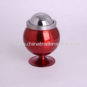 Decorative Metal Ashtray with Wine Glass Shaped
