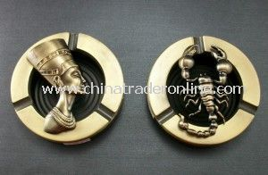Engraved Metal Ashtray