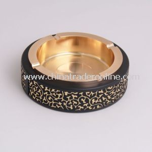Luxury Ashtray with Leather, Cool Alloy Ashtray