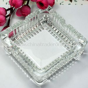 Unique Square Glass Ashtray