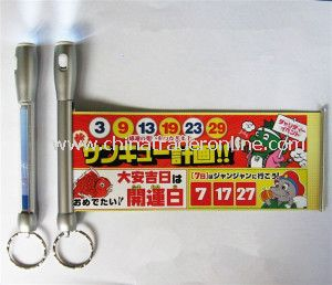 LED Banner Pen with Keyring