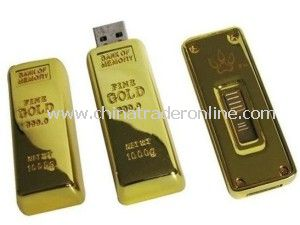 Gold Bar USB Flash Memory for USB Gift