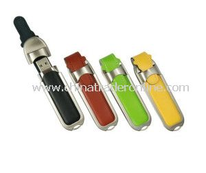 Leather Key Chains USB 2.0 Memory Stick Flash Pen Drive