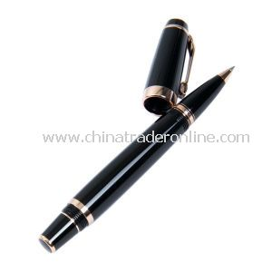 Metal Roller Gel Pen with 0.5mm Needle Tip, 4 Colors, Cartoon Design Printing on Barrel, OEM Orders Are Welcome
