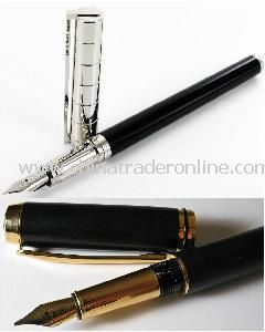 Promotional Metal Fountain Pen with Logo Printing,suitable for promotion, gifts or office use, with unique design
