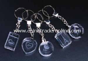 Crystal LED Keychain