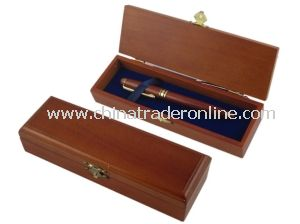 Elegant Solid Wood Stationery Pen Box