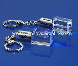Glass Crystal Custom Keychain with LED for Gift Items from China