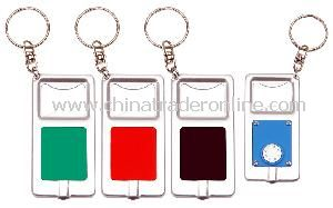 Keychain with Bottle Opener and Led Light from China