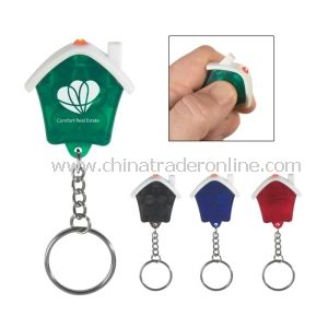 LED House Shape Keychain