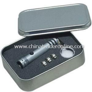LED Keychain in Tin Box