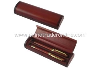 Matte Solid Wood Stationery Pen Box from China