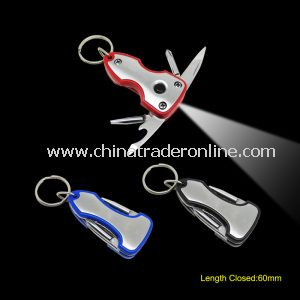 Multi Function Key Chain Tools with LED Torch from China