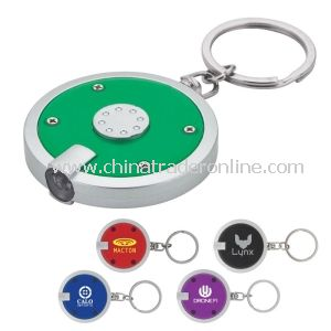 Round LED Light Keychain