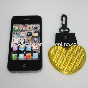 2 Red Flashing Keychain LED Bag Clip Warning Light with 2PCS AG10 Size Battery from China