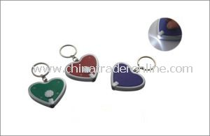 Heart Shape LED Lights Keychain from China