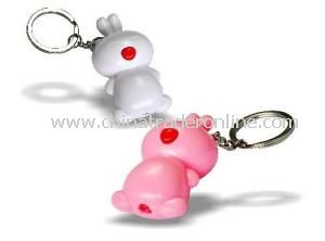 Rabbit LED Flashlight with Keychain