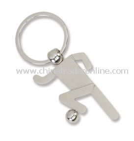 High Quality Football Sport Metal Keychain from China