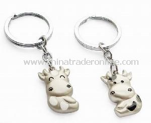 Metal Alloy Couple Keychain for Lovers