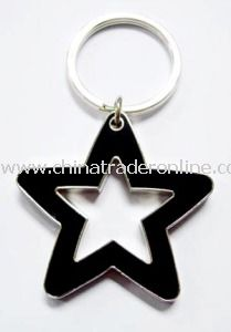 Star Shape Zinc Alloy Metal Keychains from China
