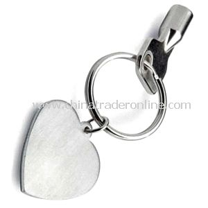 Complanate Heart Metal Keychain