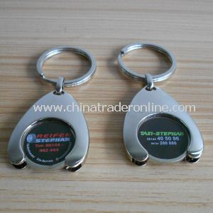 Custom Metal Shopping Cart Chip Keychain