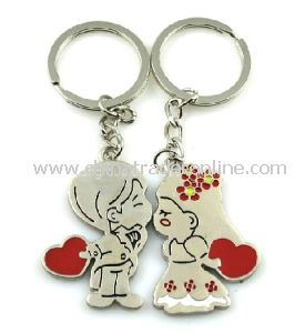 Fashion Gift Item Metal Keychain Couple Love Keychains