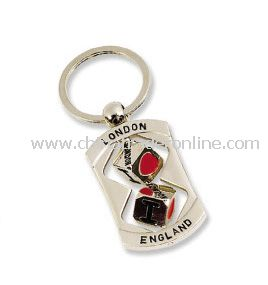 London Souvenir Metal Keychain with Spinner