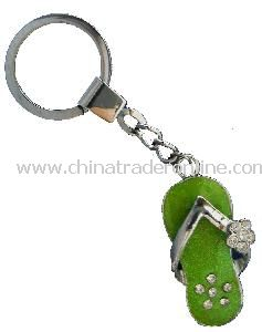 Metal Chain Keychain with Shiny Stones