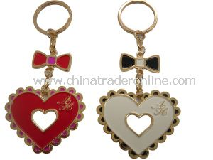 Metal Heart Shape Keychain