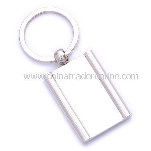 Promotion Metal Silver Epoxy Square Shape Keychain