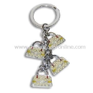 Silver Metal Key Chains/Keychain with Handbag Pendant