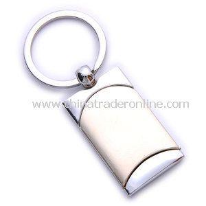 Zinc Alloy Promotion Rectangle Shape Metal Keychain