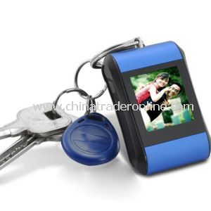 1.5 Inch Digital Photo Frame Keychain with Digital Clock Function