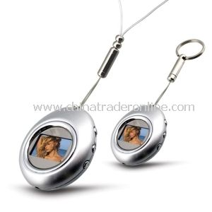 Egg Shape Digital Photo Frame Keychain, Memory Big, 5clock Display and Time Display