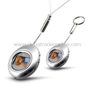 Egg Shape Digital Photo Frame Keychain, Memory Big, 5clock Display and Time Display from China