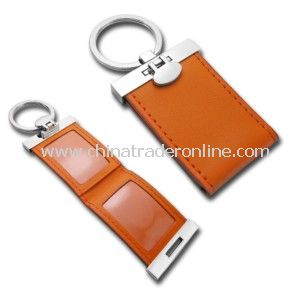 Leather Keychain with Photo Frame